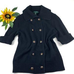 Ralph Lauren Sweater Jacket Double Breast Cotton